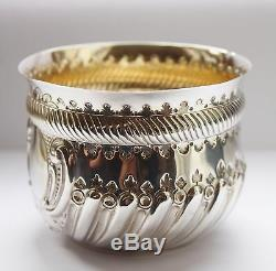 Lovely Victorian Antique Solid Silver And Gilded Bowl London 1888