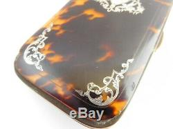 Lovely Victorian Silver Inlaid Card Case