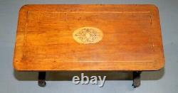 Lovely Victorian Walnut Inlaid Silver Tea Or Occasional Side Table Lovely Inlay