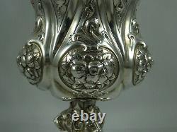 MAGNIFICENT, VICTORIAN silver WINE GOBLET, 1862, 421gm BARNARDS