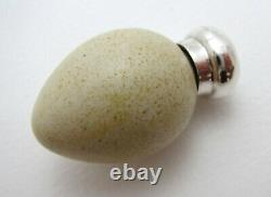 Macintyre Porcelain Bird's Egg Sterling Silver Victorian Scent Perfume Bottle