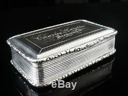 Nathaniel Mills Antique Silver Snuff Box, Birmingham 1842, AUCHTERARDER