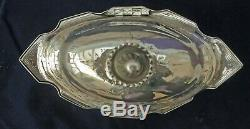 Ornate Decorative Victorian Antique Silver Tea Locking Caddy 1894 John Wilmot