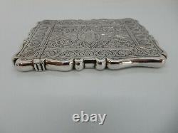 Pretty VICTORIAN Solid SILVER Card CASE, Birmingham 1871
