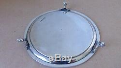 Pretty Victorian Sterling Silver Flowers Salver London 1873