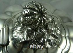 QUALITY `Melon` shaped VICTORIAN Solid Silver TEA POT, 1859, 733gr