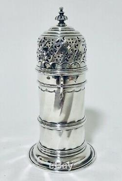 Quality Antique Victorian Britannia Silver Sugar Shaker Caster London 1893