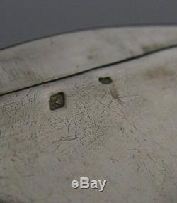 RARE FRENCH SOLID SILVER MECHANICAL SNUFF BOX c1900 ANTIQUE PUSH BUTTON