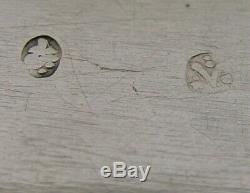 RARE LARGE HANAU SOLID SILVER TABLE BOX c1900 ANTIQUE MARIE ANTOINETTE 124g