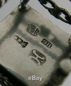 RARE SOLID SILVER CHAIR PIN CUSHION HANAU DUTCH c1900 ANTIQUE NEEDLEWORK SEWING