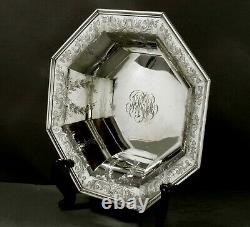 R. Wallace Sterling Center Bowl c1925 HAND DECORATED