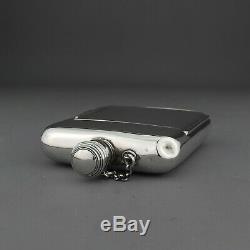 Rare Antique Solid Sterling Silver Hip Flask / Cigarette Case /Sandwich Box, 1853