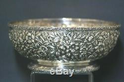 Rare Antique Washington DC Sterling Repousse Bowl Galt&Bro 1900 S Kirk&Son Style