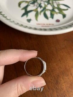 Rare PANSY Photo LOCKET Mourning RING French Victorian Art Nouveau Solid Silver