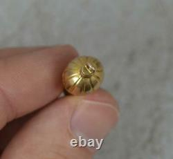 Rare Victorian 9ct Gold Working Whistle Pendant Charm