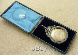 Rare Victorian Giant Scottish Silver West Calder Bowling Club Limefield Medal