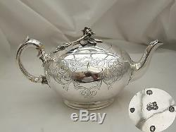 Rare Victorian Hm Sterling Silver Bullet Teapot 1839
