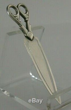 Rare Victorian Sterling Silver Scissor Bookmark 1887 Chester Antique Sewing