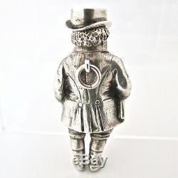 Rare Victorian silver novelty propelling pencil John Bull c 1880
