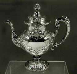 Reed & Barton Sterling Coffee Pot c1950 FLORA