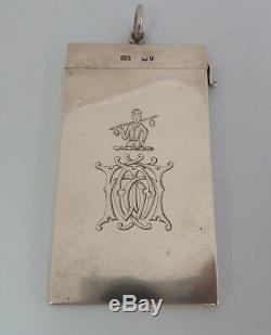 SAMPSON MORDAN Victorian Solid SILVER Card Case. London 1884