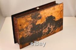 SILVER STERLING c. 1899 HAMMOND CREAK & Co ENGLAND HM INKWELL & OAK STANDISH SET