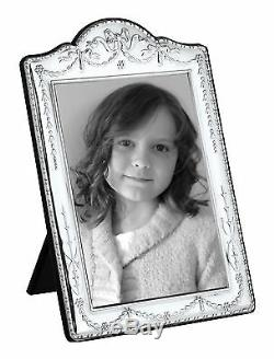 SOLID SILVER PHOTOGRAPH FRAME (Swag & Bow) 10 X 8 by Carr's