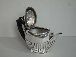 SUPERB ANTIQUE VICTORIAN STERLING SILVER TEA SET SHEFFIELD 1894 411g