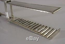 SUPER FRENCH SOLID SILVER ASPARAGUS SERVING TONGS c1890 ANTIQUE 123g