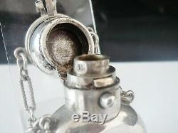 Sampson Mordan Antique Silver Scent Perfume Bottle, London 1873