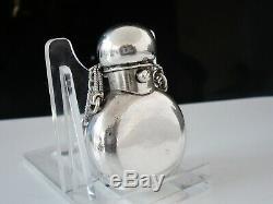 Sampson Mordan Antique Silver Scent Perfume Bottle, London 1873