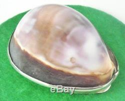 Scottish Provincial Silver Cowrie Shell Snuff Box, Laurence Aitchison of Falkirk