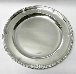 Set of 12 Victorian Silver Dinner Plates London 1877 by Walter & John Barnard