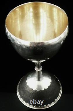 Silver Goblet Emu Egg Base, London 1880, Jane Brownett & Alexander Jones