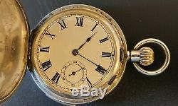 Solid 935 Sterling Silver Quarter Repeater Pocket Watch