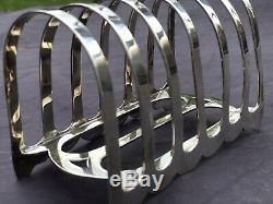 Solid Silver Toast Rack Full English Hallmarks