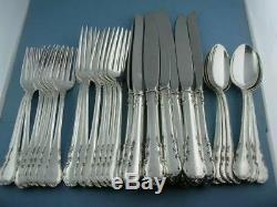 Sterling LUNT Flatware Set (8) 4pc Place Settings MODERN VICTORIAN no mono