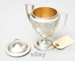 Sterling Silver Tea set Greves & Hodges, Victorian Silver with Goldwash, 1300g+