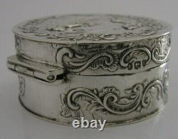 Stunning Antique Dutch Solid Sterling Silver Box London Import 1892 Victorian