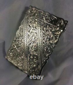 Stunning Antique Hm Silver George V J & W. F Deakin Calling Card Case 1924