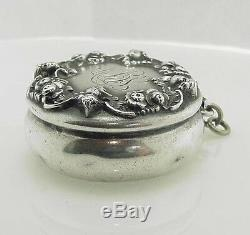 Stunning Antique Victorian Sterling Kerr Patch Box