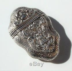 Stunning Quality Rare Victorian Dutch Solid Silver Highly Ornate Vinaigrette
