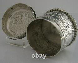 Stunning Solid Sterling Silver Box Small Tea Caddy Canister 1894 Antique