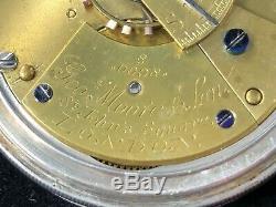 Stunning Victorian Silver Half Hunter Pocket Watch George Moore & Son 1884