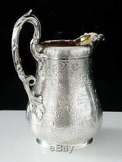 Super Quality Antique Silver Cream Jug, London 1866, Edward & John Barnard