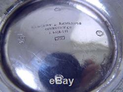 Superb Large 847 Grams Victorian Sterling Silver Crest Melon Teapot 1860