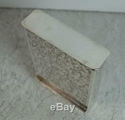 Superb Victorian Hallmarked Silver Playing Card Case Holder