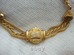 Superb Victorian Ladies Albertina Gilded Pocket Watch Chain Tassel Fob Bracelet