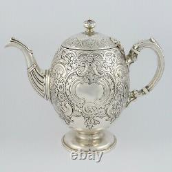 Superb Victorian Scottish Solid Silver Teapot / Coffee Pot Edinburgh 1870