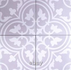 TILE SAMPLES Paris Silver Grey Moroccan Victorian Porcelain Wall & Floor Tiles
